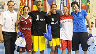 All Tournament Team Cleopatra Forsman-Goga (Sweden), Farhiya Abdi (Sweden), Michelle Brandao (Portugal), MVP Artemis Spanou and Lenka Bartakova (Czech Republic)